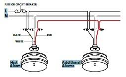 hard wire smoke detector wiring diagram example electrical wiring how to wire smoke detectors in series diagram kidde i12010s worry free hardwired interconnect smoke alarm rh kidde com smoke detector installation wiring schematic