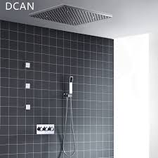 spa 500x500mm 20 inch 3 way hot cold mixer rain shower set led lamp illuminated shower head with 3 spray jets