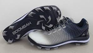 New Boombah Molded Navy Columbia Blue Cleats Spikes Girls