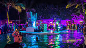 space lighting miami. cabana reception at wet space lighting miami 2