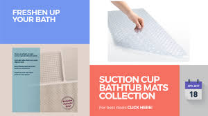 Suction Cup Bathtub Mats Collection Freshen Up Your Bath - YouTube