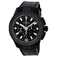17 best images about zenith watches popular zenith el primero stratos fly back black dial alligator leather men s watch