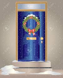 Decorating front door clipart pictures : Christmas Front Door Clipart - ClipartXtras