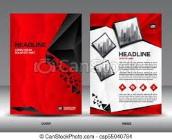 Newspaper Flyer Template Business Brochure Flyer Template Vector Illustration Red Cover Design Annual Report Cover Magazine Ad Advertisement Corporate Layout Company