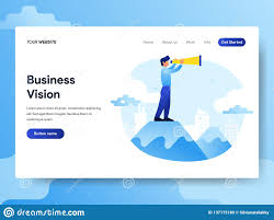 Design For Vision Hours Landing Page Template Of Businessman With Vision Concept