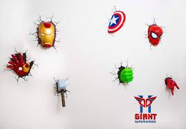 Marvel Avengers 3d Wall Lights Marvel Avengers 3d Wall Art Night Light Best Superhero