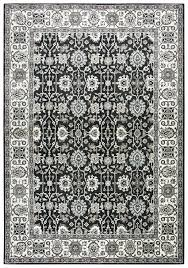 details about zenith soft wool feel area rug 3 3 x 5 3 black white brown taupe green oriental