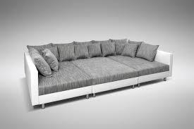 Bed With Sofa Xora Xora Wohnlandschaft Grau Mikrofaser