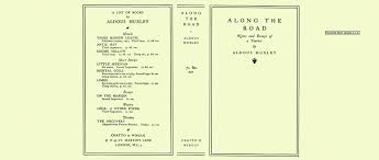 search results for author aldous huxley along the road notes and essays of a tourist huxley aldous