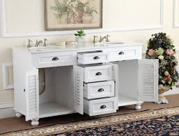 White Double Bathroom Vanities Adelina 60 Inch Antique White Double Sink Bathroom Vanity Marble