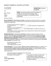 Examples Of A Professional Cover Letters Resume Stunning Professional Cover Letter Basic Example
