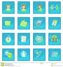 Call Center Items Icon Blue App Stock Vector Illustration Of