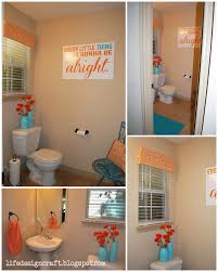 Orange & Turquoise Bathroom - {with free print: