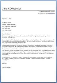 Nurse Educator Cover Letter Ideas Of Cover Letter For Nursing