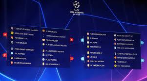chions league draw group se