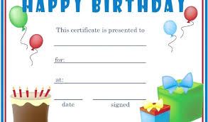 Free Downloadable Certificates Free Printable Gift Certificate Templates Online Birthday