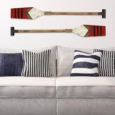 stratton home decor red wooden nautical oar wall art