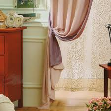 Curtain Ties Chenille Fabric Solid Curtains(No Valance)