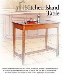 Kitchen Island Table Kitchen Island Table Plans O Woodarchivist