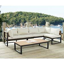 modern outdoor patio furniture. 4-Piece Modern Outdoor Patio Furniture Set With Cushions E