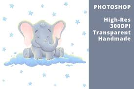 These svg images were created by modifying the images of pixabay. Baby Elephant On The Clouds Graphic By Ex Nihilo Creative Fabrica