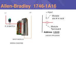 presentaton on plc scada plc inputs outputs motor lamp contactor pushbuttons 34 l1 l2 p b switch input module wiring diagram