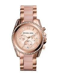 women s designer watches gold leather at neiman marcus mid size rose golden stainless steel blair chronograph glitz watch