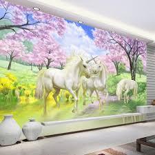 Eenhoorn Behang Verbazingwekkende 3d Behang High End Custom Mural