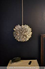 faux capiz shell flower pendant light 2