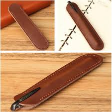 more detailed photos 6 1 inch x 1 45 inch retro leather fountain pen case