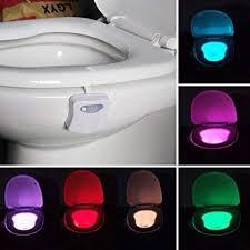 8 color led toilet light sensor motion