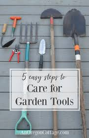 5 easy steps to care for garden tools
