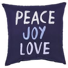 Outdoor Pillow Peace Joy Love Threshold™ Tar