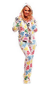 plus size footed pajamas silly skulls hooded footed pajamas pajamas footie pjs onesies