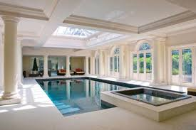 Classic indoor pool and spa design