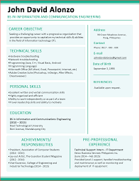 Elegant Attractive Cv Template Excuse Letter