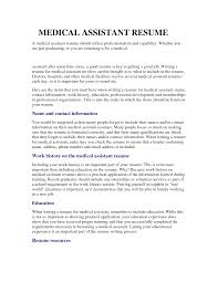 Medical Assistant Resumes With No Experience Resume For Medical Assistant With No Experience Shalomhouseus 8