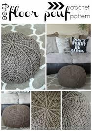 Diy Crochet Floor Pouf