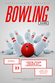 Bowling Event Flyer Bowling Game Flyer Template Postermywall