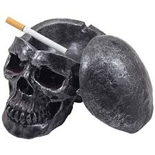 y human skull ashtray with er for decorations and decorative skulls skeletons figurines