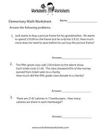Math Word Problems Worksheet Free Printable Educational Worksheet ...
