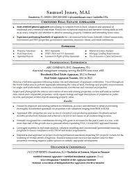 Commercial Real Estate Appraiser Sample Resume Beauteous Real Estate Resume Templates Free Real Estate Agent Resume Template