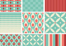 Retro Pattern Extraordinary Teal And Coral Retro Pattern Pack Download Free Vector Art Stock