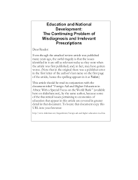 education and national development essay review education
