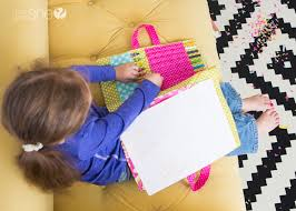 diy coloring book and crayon holder 20