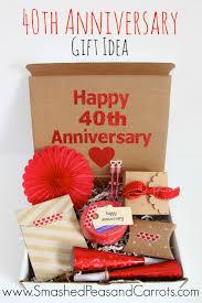 40th anniversary gift idea anniversary gift for friends ruby anniversary anniversary gifts for pas