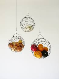 Salient Hanging Wire Fruit Or Vegetable Sphere in Wire Hanging Baskets