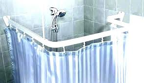 shower rods shower l shaped shower rod adjule d curtain shower curtain rods