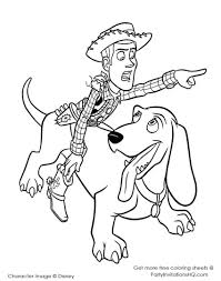 Toy Story Coloring Pages Happyiendsee Page Disney Kids Woody And