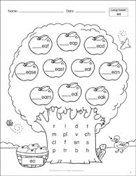 Phonics teaches a student to read by using the sounds of the letters in a word. Long Vowels Ea Ee Phonics Tree Printable Skills Sheets